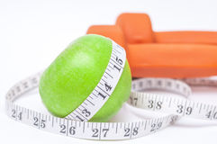 Diet diabetes weight loss concept with tape measure organic gree Stock Images