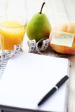 Diet diary Royalty Free Stock Photo