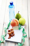 Diet diary Royalty Free Stock Photography