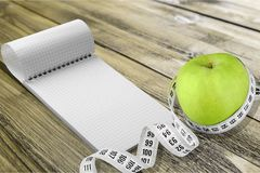 Diet. Tape green medical concept background instrument stock images
