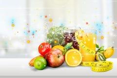 Diet. Ing slim slimming fruit health food Stock Images