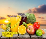 Diet. Ing slim slimming fruit health food Royalty Free Stock Photography