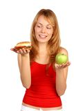 Diet dilemma Royalty Free Stock Photography