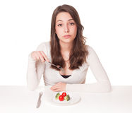 Diet dilemma. Royalty Free Stock Photography