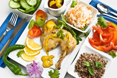 Diet dinner Royalty Free Stock Images