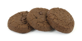 Diet double chocolate sugar free cookies Royalty Free Stock Photos