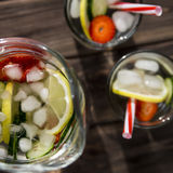 Diet drink with ice. Without calories royalty free stock photos