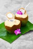 Diet Drink. Organic Coconut Water, Milk. Nutrition, Hydration. H Stock Photo