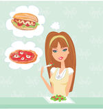 Diet eating temptation Royalty Free Stock Photos