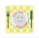 Diet with empty plate smile Stock Photo
