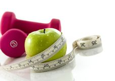 Diet and exercise stock image