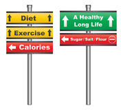 Diet and exercise for a healthy life royalty free stock photos