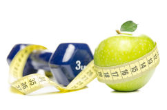Diet and exercise Royalty Free Stock Image