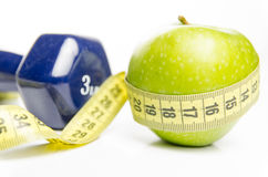 Diet and exercise Royalty Free Stock Photos