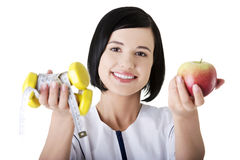 Diet and exerciseing time Stock Photography
