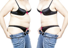 Diet before after Stock Images
