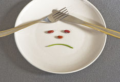 The Diet. Feeling sad about the diet Stock Photography