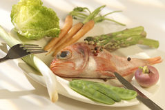 Diet fish dish Royalty Free Stock Images