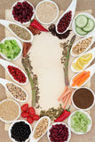 Diet Food Abstract Border Royalty Free Stock Image