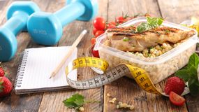 Diet food concept. And meter Stock Photography