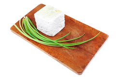 Diet food : greek feta white cheese Stock Images