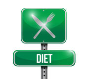 Diet food sign illustration design Stock Image