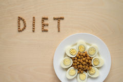 Diet food sign Royalty Free Stock Images