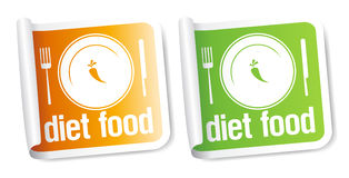Diet Food stickers. Stock Image