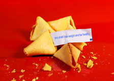 Diet fortune cookie Stock Images