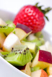 Diet fruit salad in white plate Stock Photos