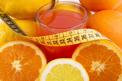 Diet, fruits Stock Images
