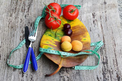 Diet with fruits and vegetables Royalty Free Stock Image