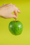 Diet green apple Royalty Free Stock Photos