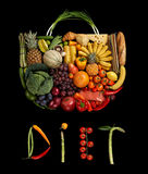 Diet handbag Royalty Free Stock Images