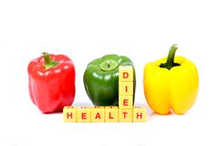 Diet health. Concept shot of diet health over white background Royalty Free Stock Photos