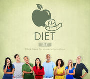 Diet Health Eating Nutrition Measure Concept Royalty Free Stock Photos