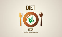 Diet Health Nutrition Life Food Eating Concept stock illustration