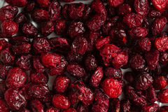 Diet healthy food. Dried cranberries cranberry fruit as background Stock Images