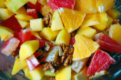 Diet, healthy fruit salad in bowl Royalty Free Stock Image