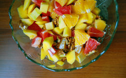 Diet, healthy fruit salad in bowl Royalty Free Stock Photography