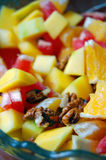 Diet, healthy fruit salad in bowl Stock Photography