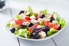 Diet and healthy mediterranean salad stock image