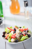 Diet and healthy mediterranean salad Royalty Free Stock Photo
