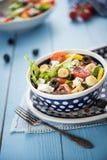 Diet and healthy mediterranean salad Stock Image