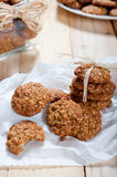 Diet and healthy muesli cookies Royalty Free Stock Image