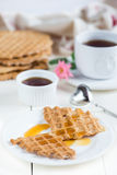 Diet homemade waffles Stock Image