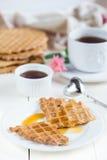 Diet homemade waffles Stock Image