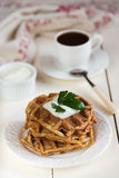 Diet homemade waffles Royalty Free Stock Photo