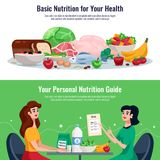 Diet Horizontal Banners Royalty Free Stock Image