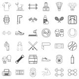 Diet icons set, outline style Royalty Free Stock Photo